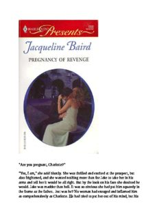 Pregnancy Of Revenge (Harlequin Presents 2502)