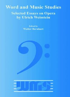Selected Essays on Opera by Ulrich Weisstein