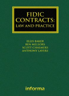 FIDIC Contracts: Law and Practice
