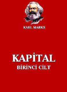 Kapital, Cilt: I - Karl Marx