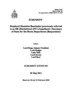 JUDGMENT Shepherd Masimba Kambadzi (previously referred to as SK (Zimbabwe))