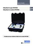 Wally Box III, type CPH7600 Wally Box III, modelo CPH7600 - Wika