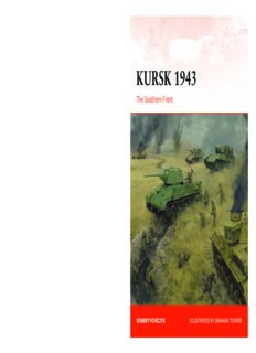 Kursk 1943.  The Southern Front (Osprey Campaign 305)
