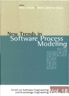 New Trends in Software Process Modelling (Software Engineering and Knowledge Engineering) (Series on Software Engineering and Knowledge Engineering)