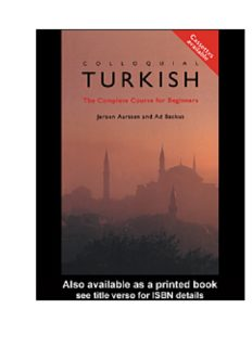 Colloquial Turkish : The Complete Course for Beginners