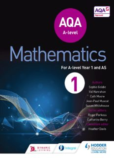 AQA A Level Mathematics for A Level Year 1 and AS