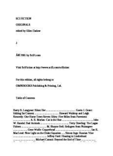 Ellen Datlow - SciFiction Originals vol 3