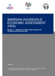 imarisha household economic assessment (hea)