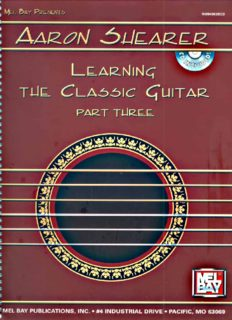 Mel Bay Aaron Shearer Learning the Classic Guitar, part 3 (Book & CD)