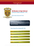 St Modan's High School Setting the Highest Standards   2014
