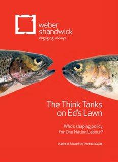 The Think Tanks on Ed's Lawn - Weber Shandwick UK