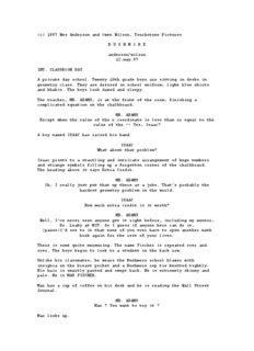 Rushmore Script (PDF format) - The Rushmore Academy
