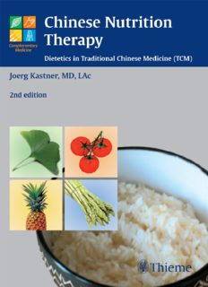 Chinese nutrition therapy : dietetics in traditional Chinese medicine (TCM)