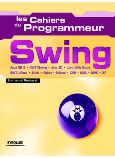 Swing Java SE 5 - AWT Swing - Java 3D - Java Web Start - SWT JFace - JUnit - Abbot - Eclipse - CVS - UML - MVC - XP