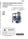 Komatsu FG25T-14 Warehouse Forklift Operator Manual