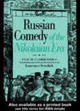 Russian Comedy of the Nikolaian Era (Russian Theatre Archive (Paperback M.E. Sharpe))