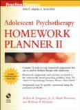 Adolescent Psychotherapy Homework Planner II (Practice Planners)