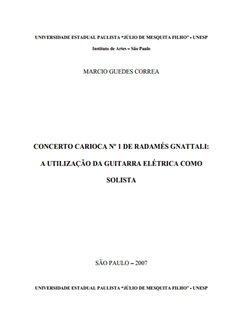 concerto carioca nº 1 de radamés gnattali - Marcio Guedes