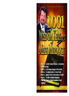 1,001 Wisdom Keys of Mike Murdock