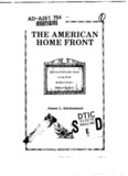 The American Home Front: Revolutionary War, Civil War, World War I, World War II