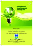 General Aspects of Energy Management and Energy Audit