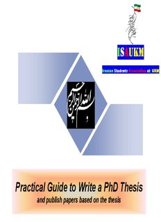 Practical Guide to Write a PhD Thesis