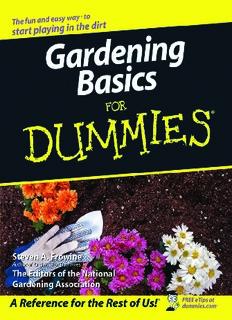 Gardening Basics for..