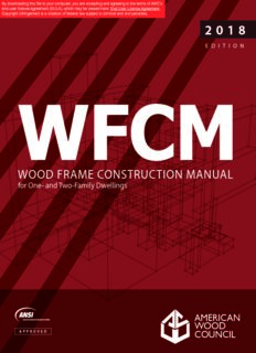 wood frame construction manual wood frame construction manual