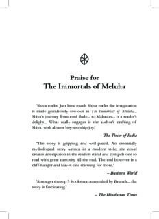 Praise for The Immortals of Meluha - xa.yimg.com