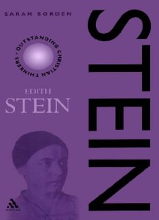 Stein: Edith Stein (Outstanding Christian Thinkers (Paperback Continuum))