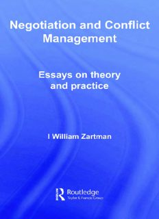 Negotiation and Conflict Management: Essays on Theory and Practice ( Security and Conflict Management)