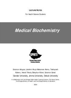 Medical Biochemistry - The Carter Center