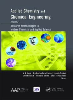 Applied chemistry and chemical engineering. Volume 5, Research methodologies in modern chemistry and applied science