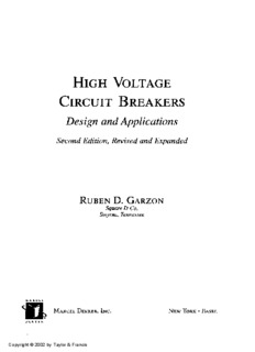 High Voltage Circuit Breakers, Design and Applications