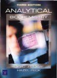Analytical Biochemistry by David. J. Holme & Hazel Peck, 3rd ed, Prentice Hall 1998.