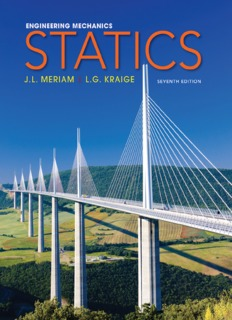 Meriam Kraige Engineering Mechanics Statics 7th Edition book