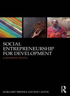 Social Entrepreneurship for Development: A Business Model
