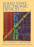 Solutions Manual to Solid State Electronic Devices, 6th Edition