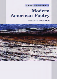 Download Modern American Poetry By Harold Bloom in pdf