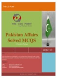 Pakistan Affairs CSS Solved MCQS - Yola