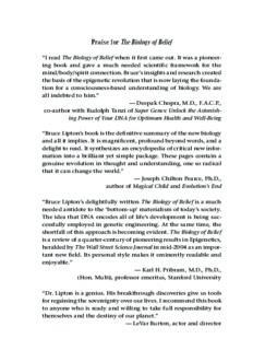 Bruce Lipton - The Biology of Belief