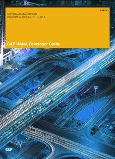 SAP HANA Developer Guide - SAP Help Portal
