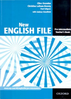 New English File: Pre-intermediate Teacher's Book