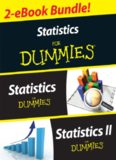 Statistics I & II for dummies (2-eBook bundle)