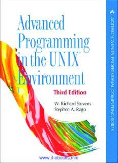 Advanced Programming in the UNIX® Environment