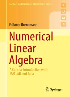 Numerical Linear Algebra: A Concise Introduction with MATLAB and Julia
