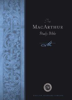 The MacArthur Study Bible, English Standard Version