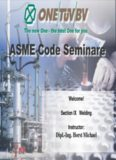 Welding - ASME Code Section IX
