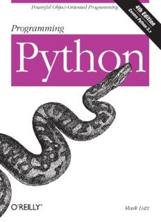 [O`Reilly] - Programming Python, 4th ed. - [Lutz].pdf