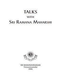 Talks with Sri Ramana Maharshi Complete